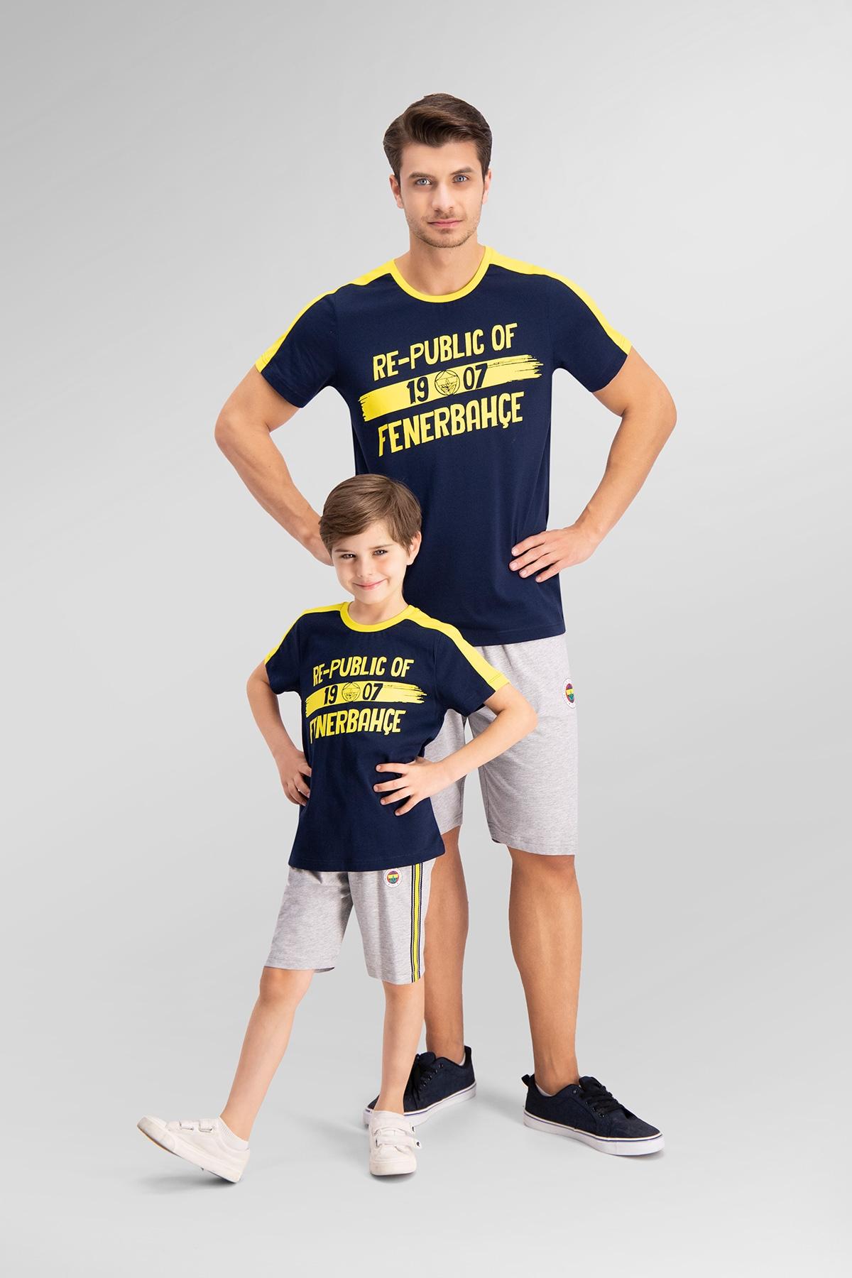 Fenerbahçe Lisanslı Lacivert Baba Oğul Bermuda Takım