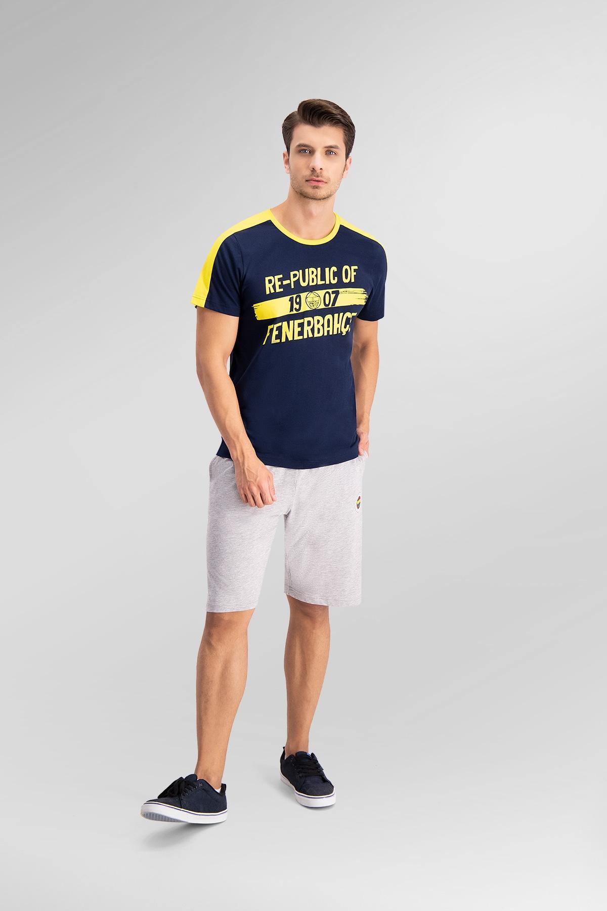 Fenerbahçe Lisanslı Lacivert Baba Oğul Bermuda Takım (1)