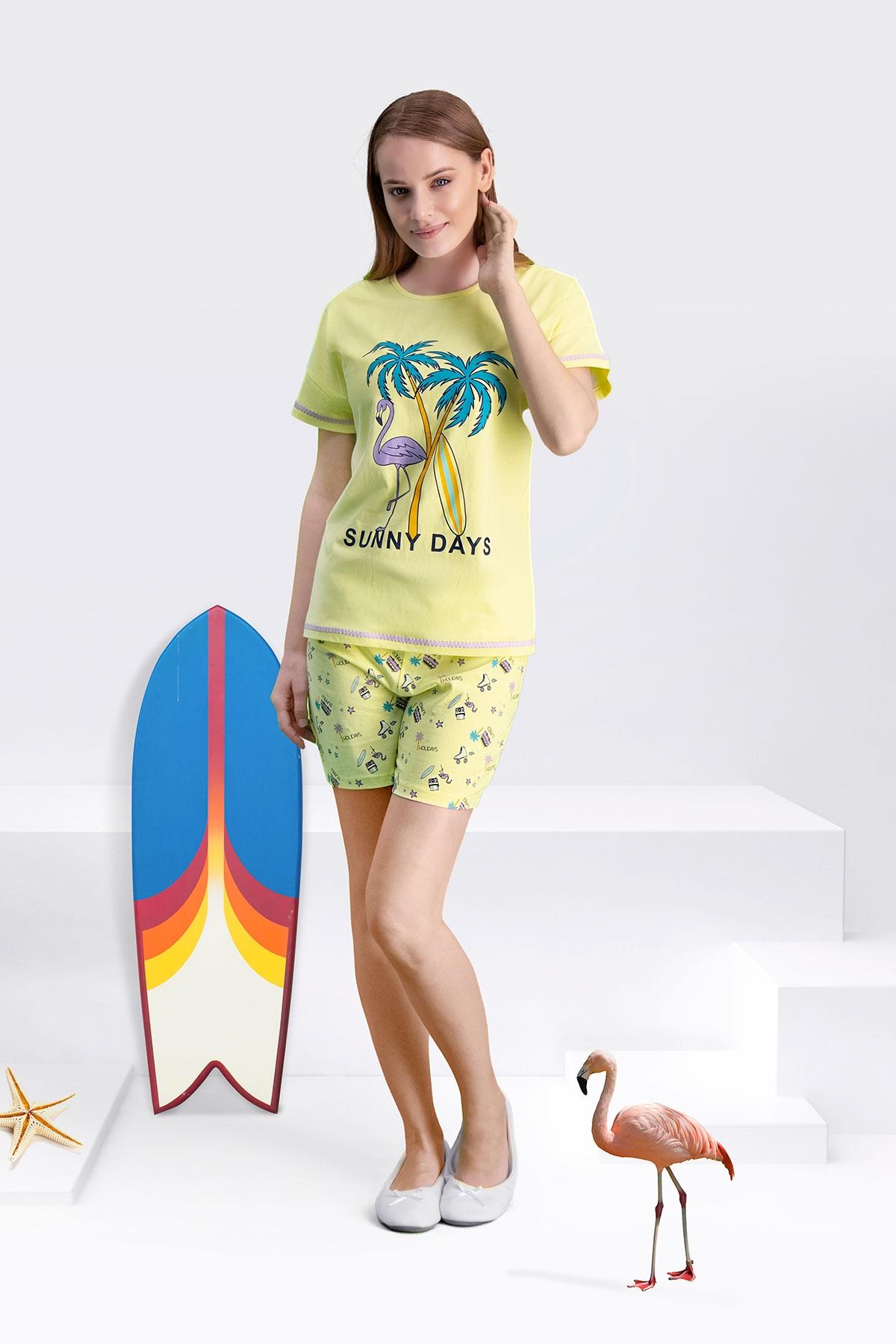 Arnetta Sunny Days Sarı Anne Kız Şort Takım (1)