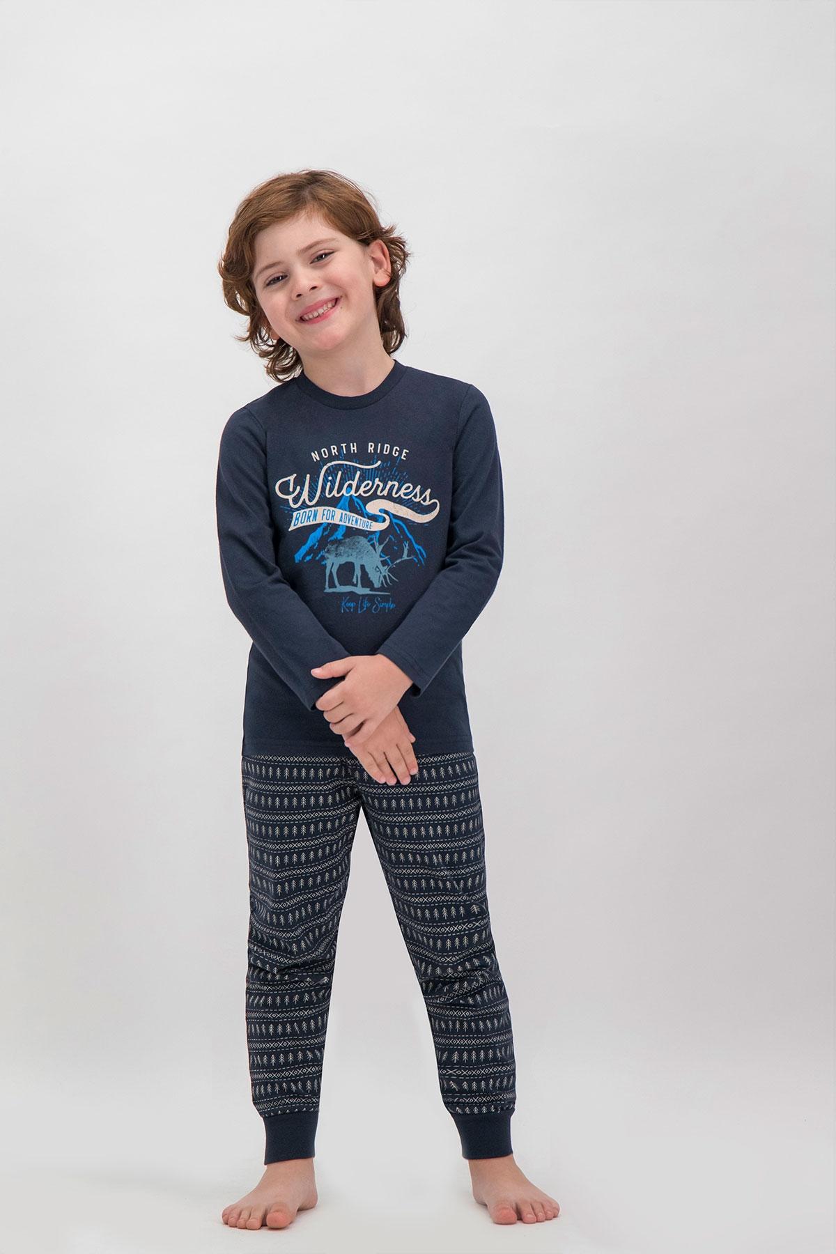 Arnetta Shine Lacivert Baba Oğul Pijama Takımı (1)
