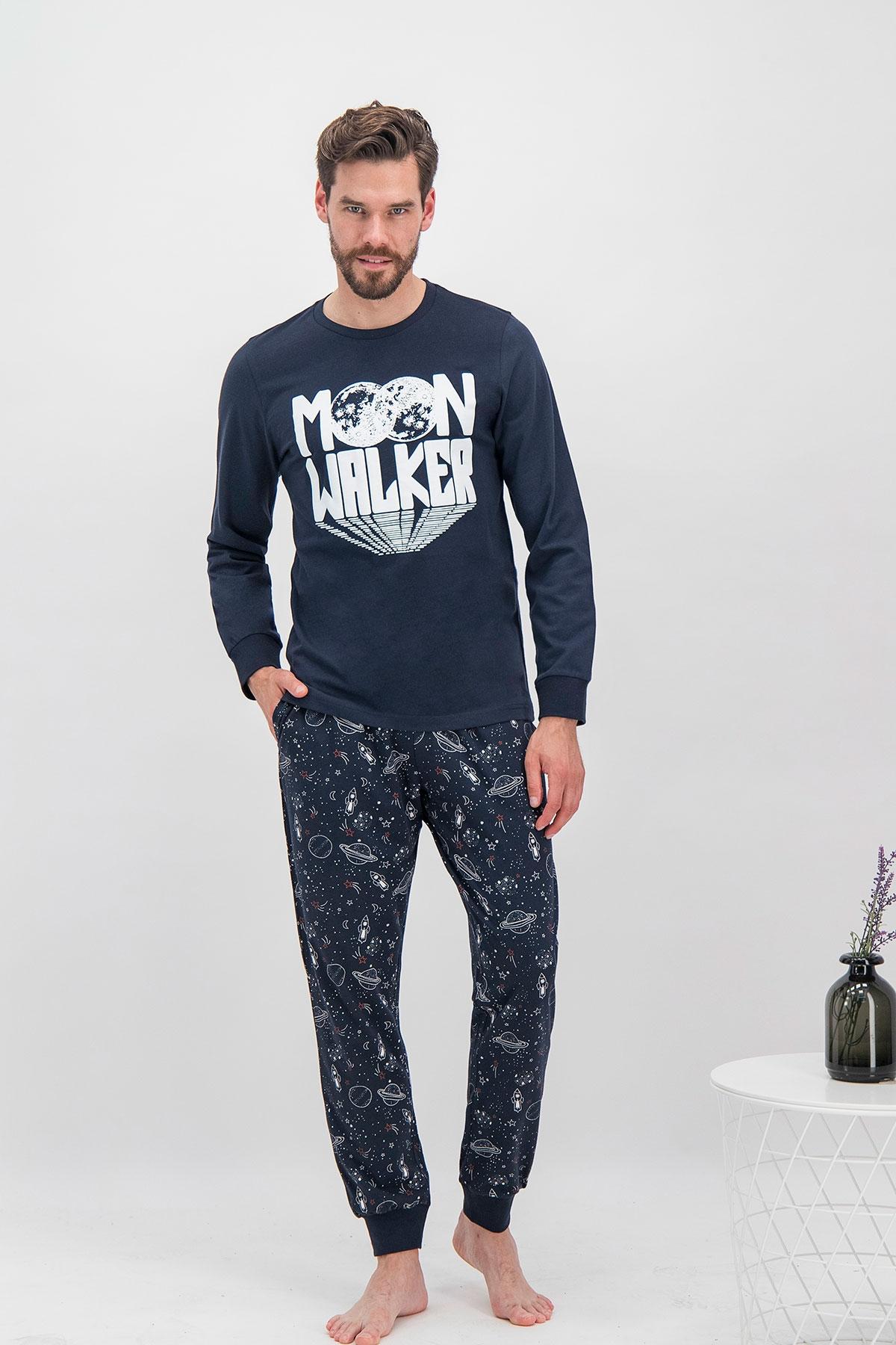 Arnetta Moon Walker Lacivert Baba Oğul Pijama Takımı (1)