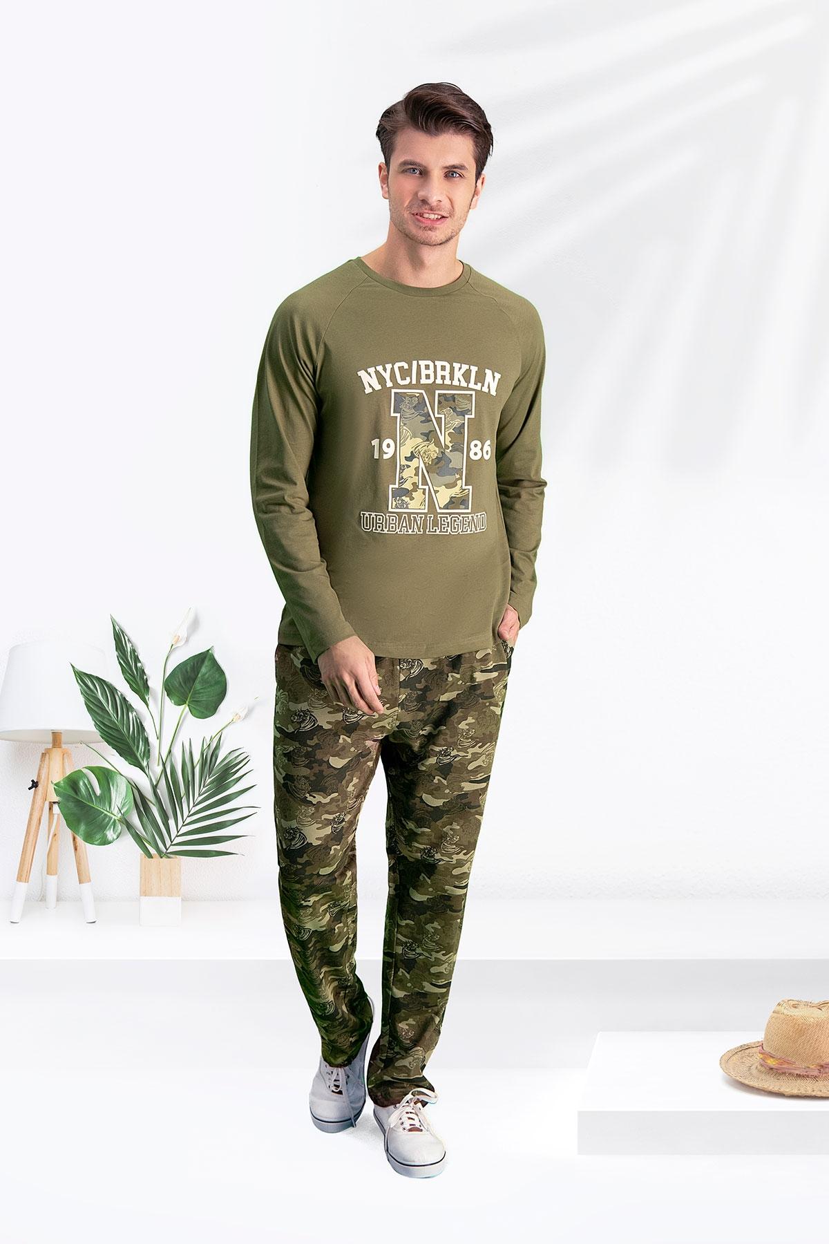 Arnetta Camouflage 1986 Haki Baba Oğul Pijama Takımı (1)