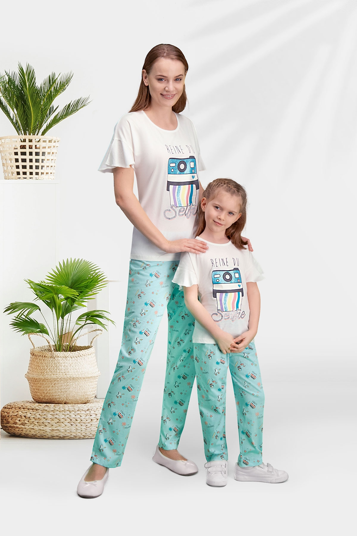 Arnetta Selfie Krem Anne Kız Pijama Takımı