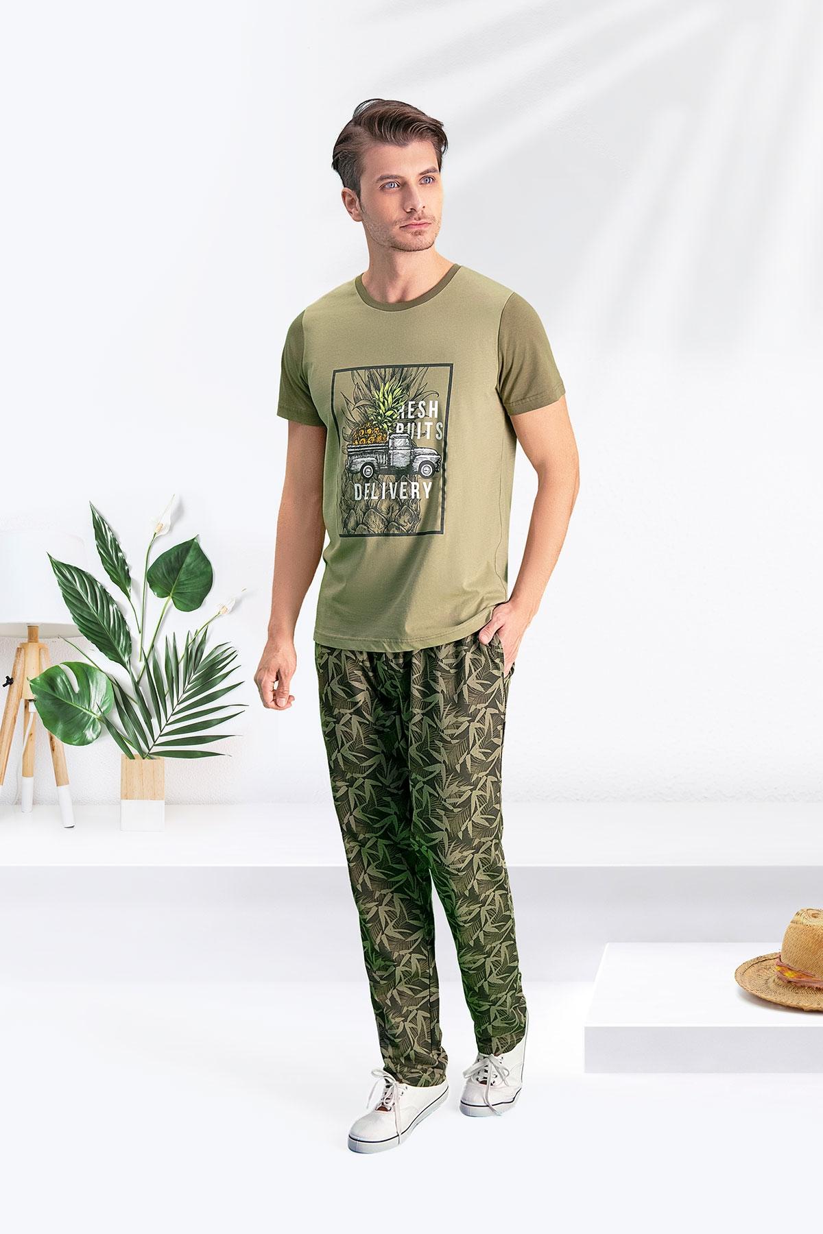 Arnetta Bambu Haki Baba Oğul Pijama Takımı (1)