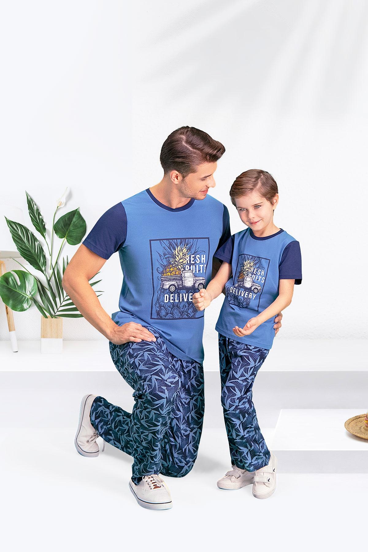 Arnetta Bambu Duman Baba Oğul Pijama Takımı