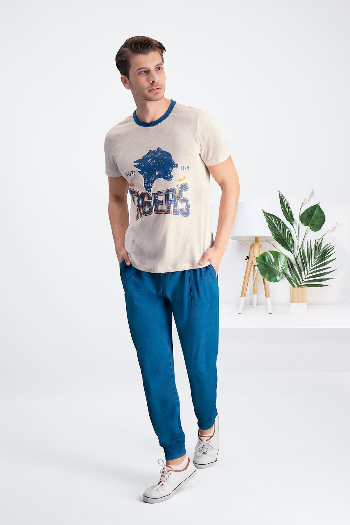 Arnetta Tiger's Kum Beji Baba Oğul Pijama Takımı (1)
