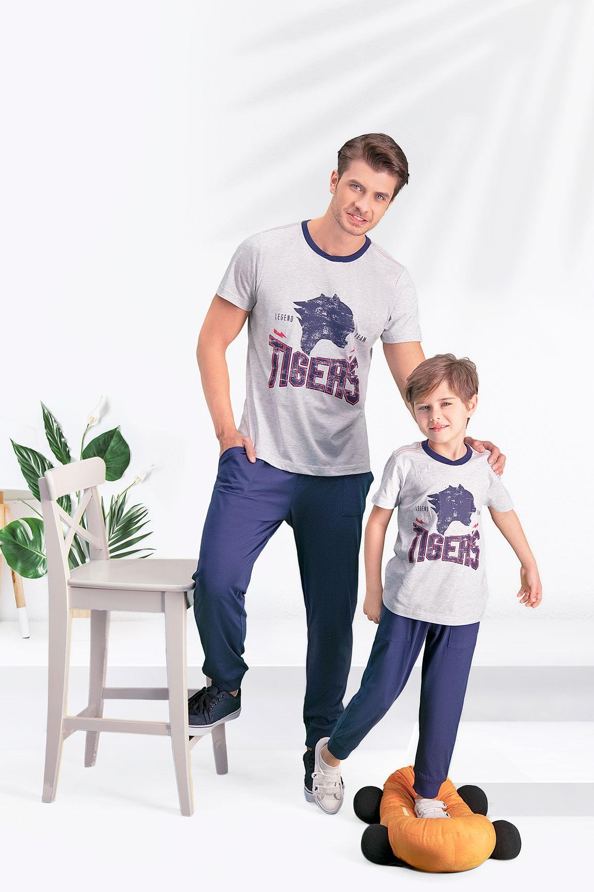Arnetta Tiger's Karmelanj Baba Oğul Pijama Takımı