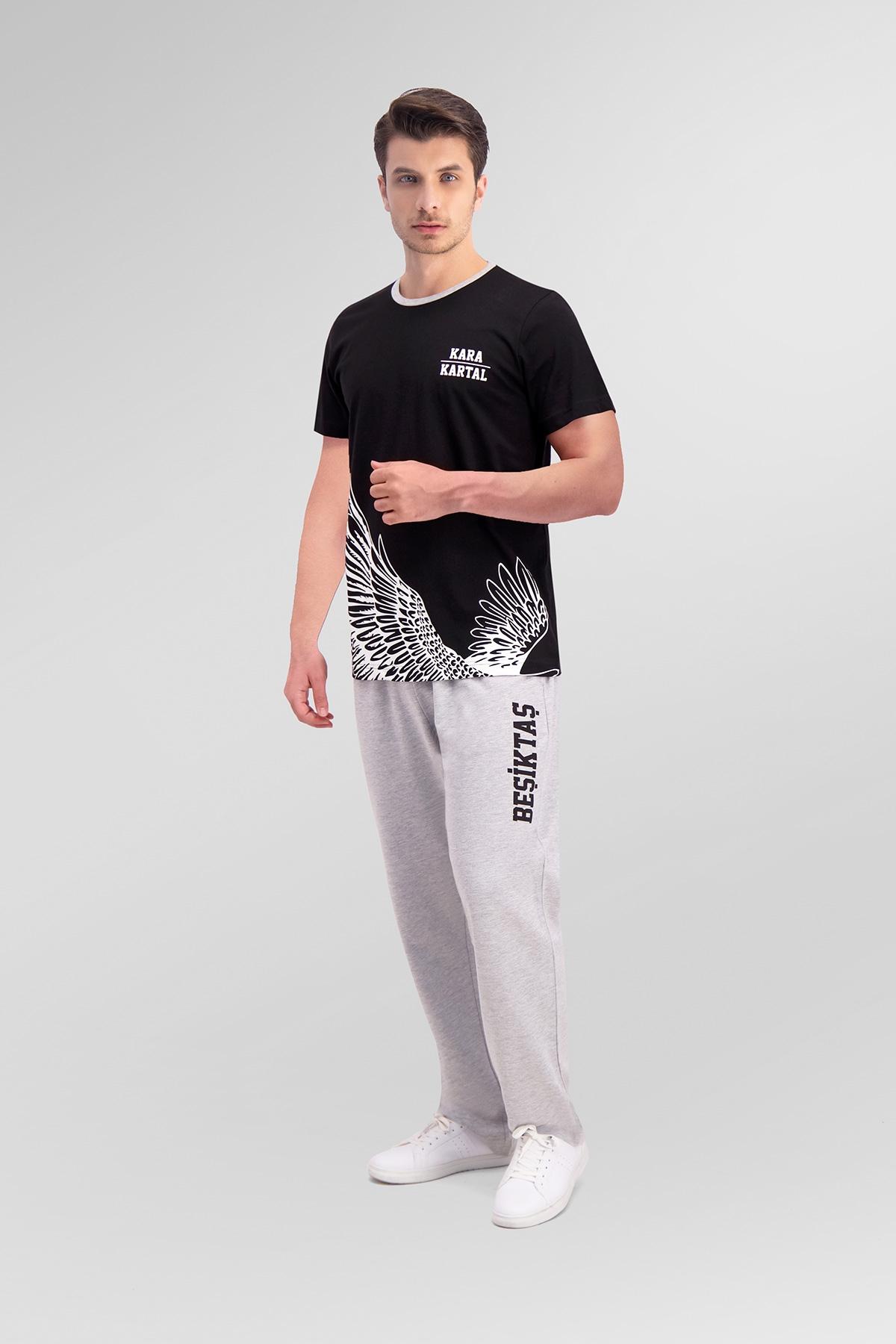 Beşiktaş Lisanslı Siyah Baba Oğul Pijama Takımı (1)