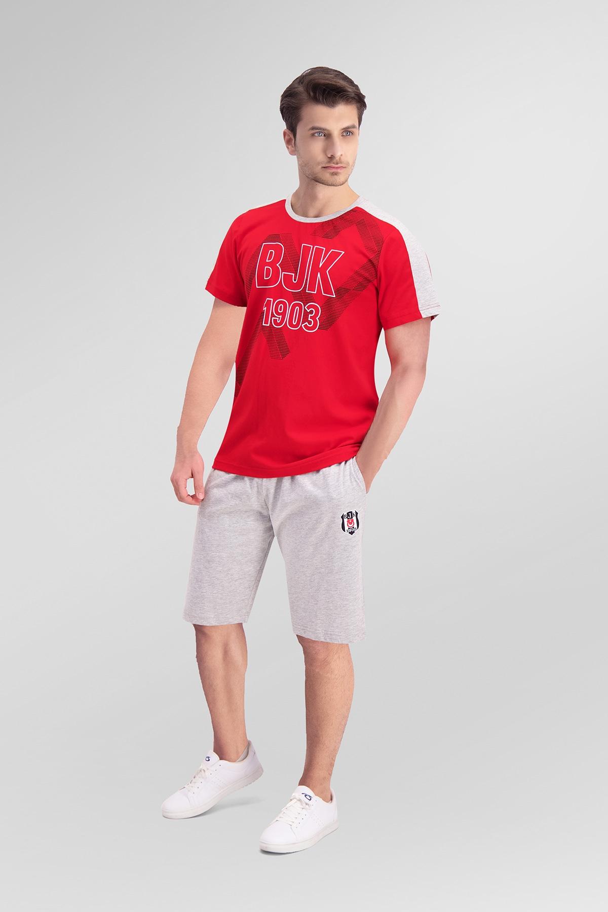 Beşiktaş Lisanslı Kırmızı Baba Oğul Bermuda Takım (1)