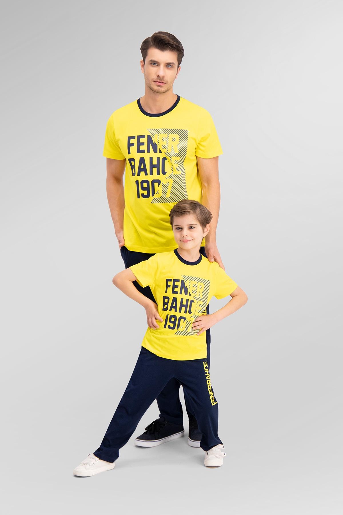 Fenerbahçe Lisanslı Sarı Baba Oğul Pijama Takımı