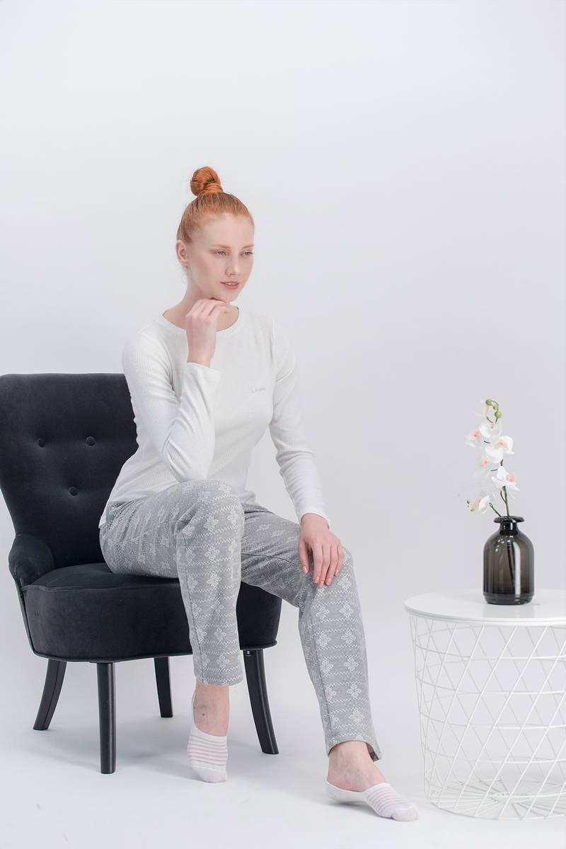 Arnetta - Arnetta Basic Snow Krem Kadın Pijama Takımı