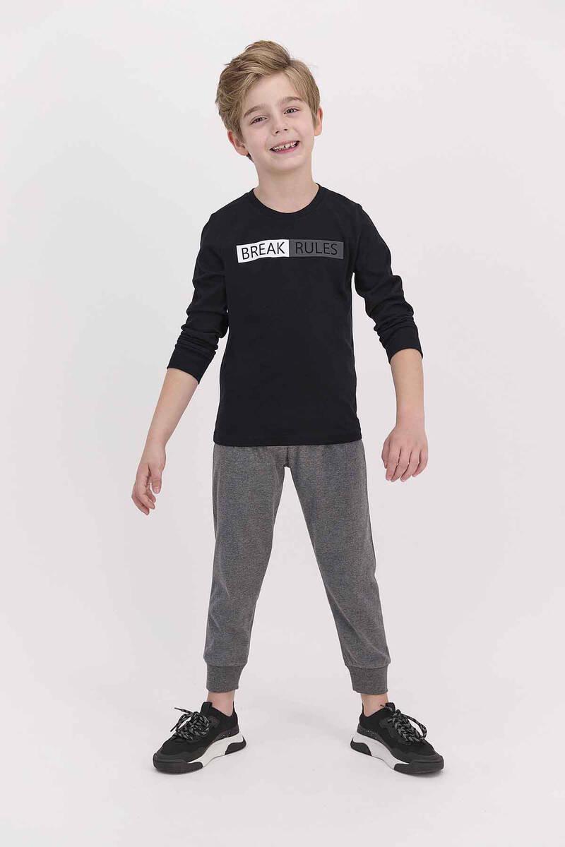 Arnetta - Arnetta Break Rules Siyah Erkek Çocuk Pijama Takımı (1)
