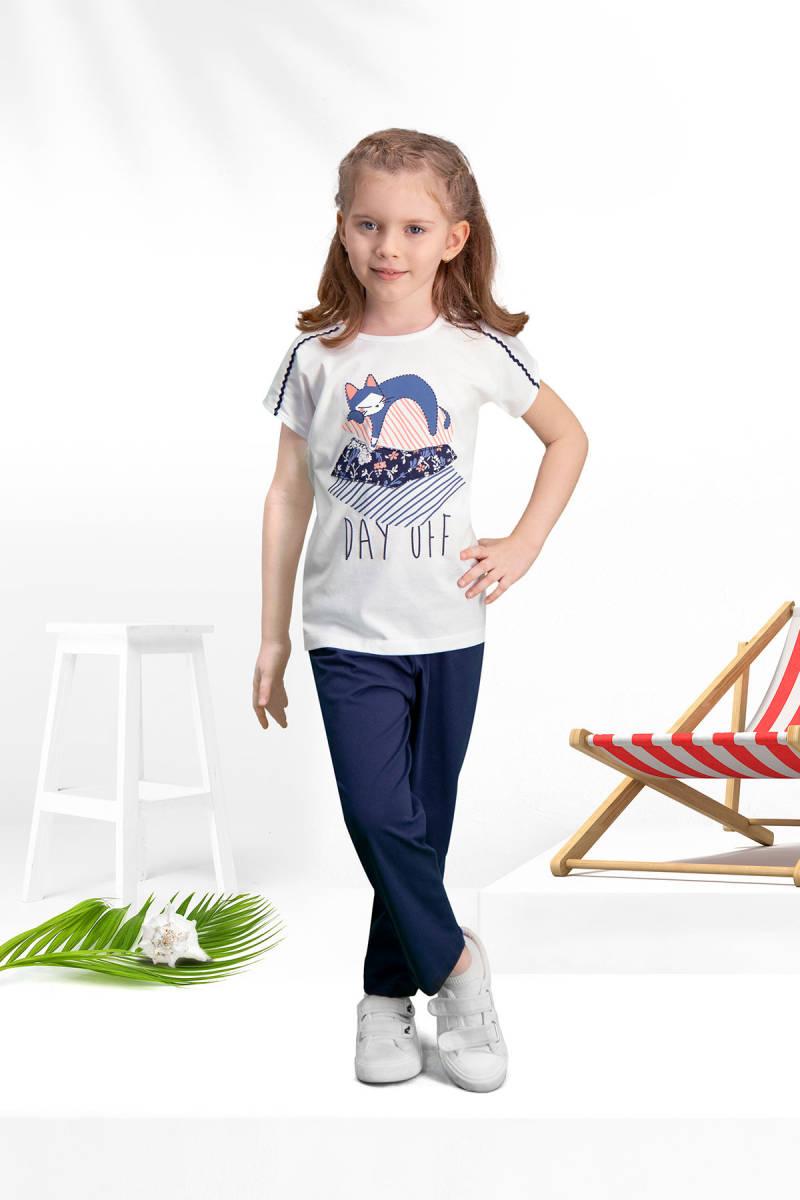 Arnetta - Arnetta Day Off Krem Kız Çocuk Pijama Takımı