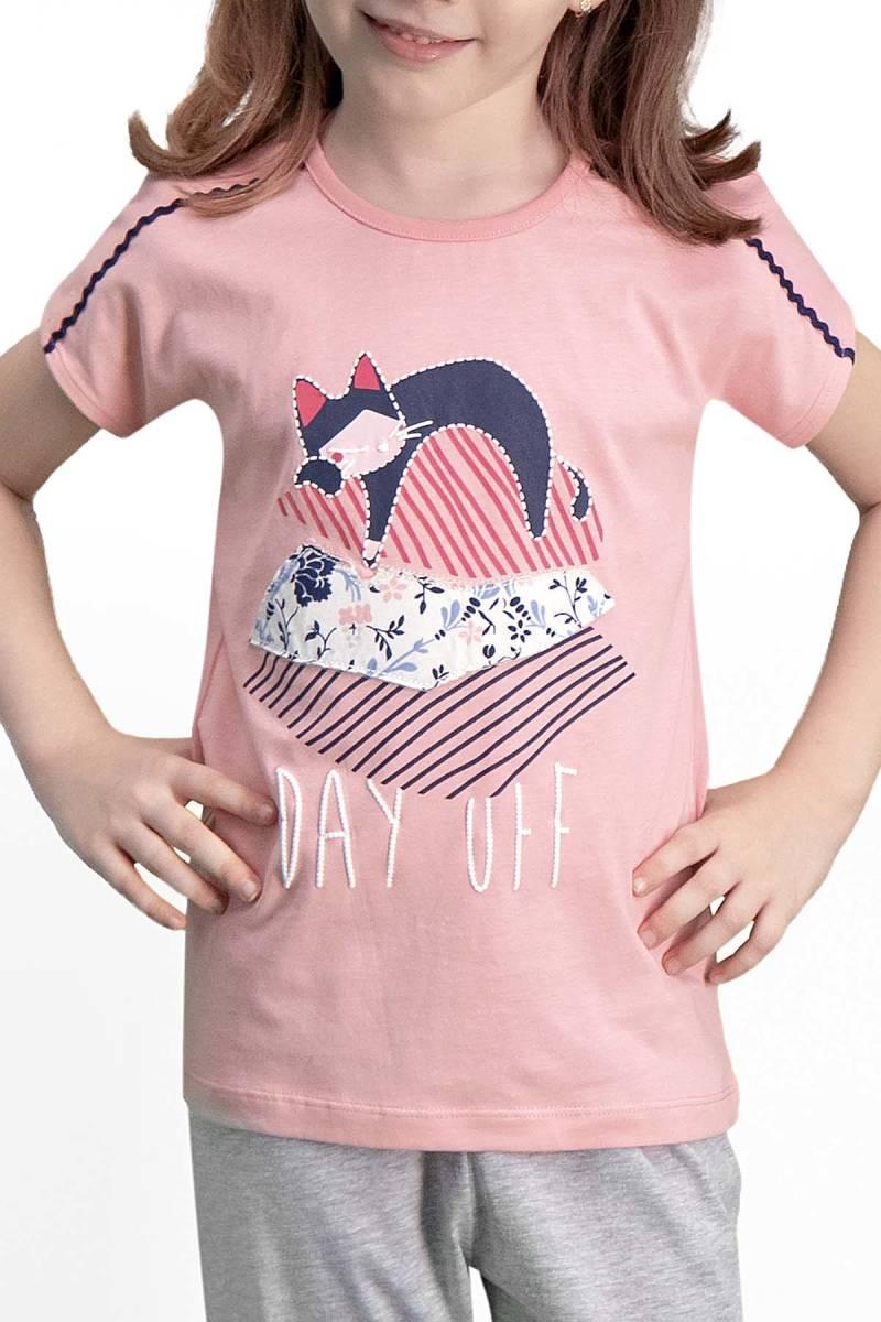 Arnetta - Arnetta Day Off Pembe Kız Çocuk Pijama Takımı (1)