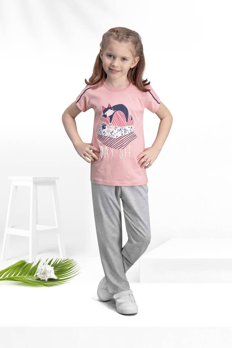 Arnetta - Arnetta Day Off Pembe Kız Çocuk Pijama Takımı
