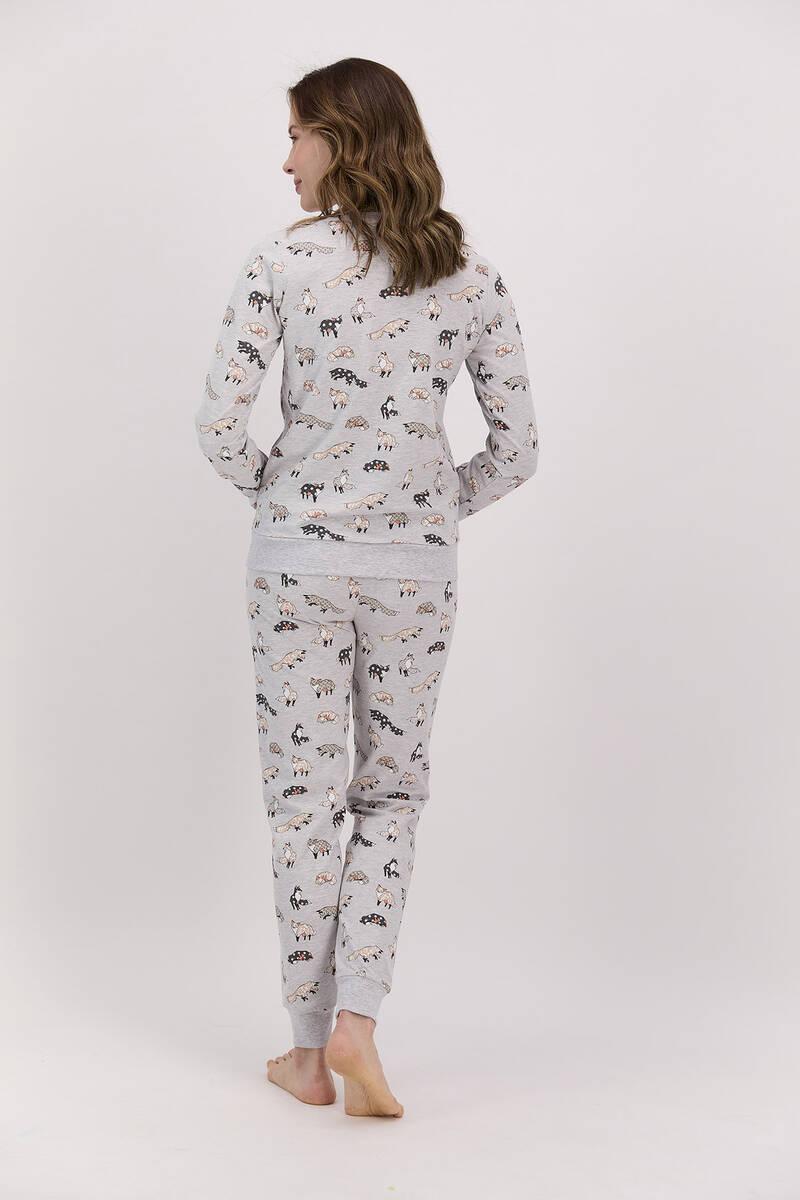 Arnetta - Arnetta Foxes Karmelanj Kadın Uzun Kol Pijama Takımı (1)