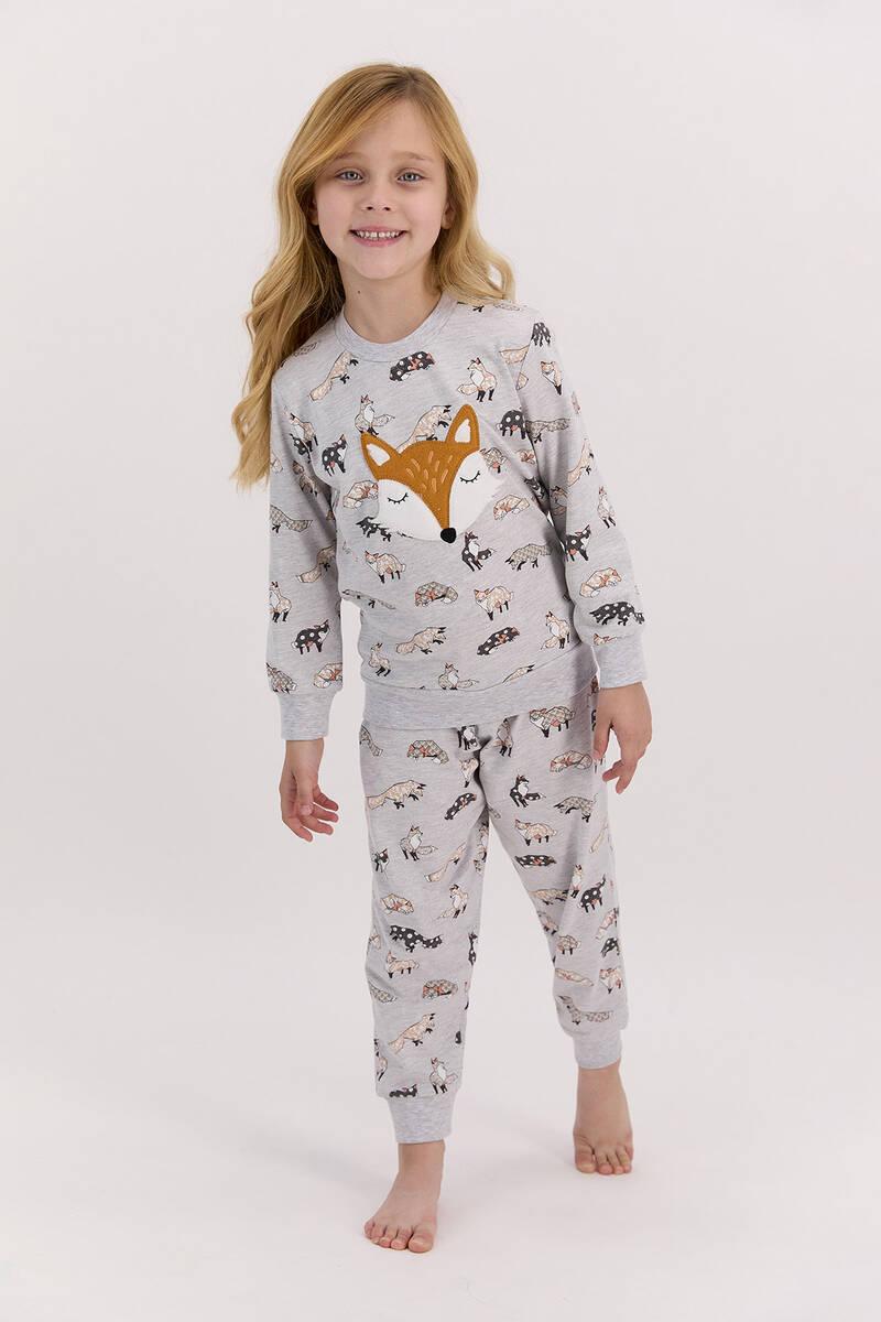 Arnetta - Arnetta Foxes Karmelanj Kız Çocuk Uzun Kol Pijama Takımı