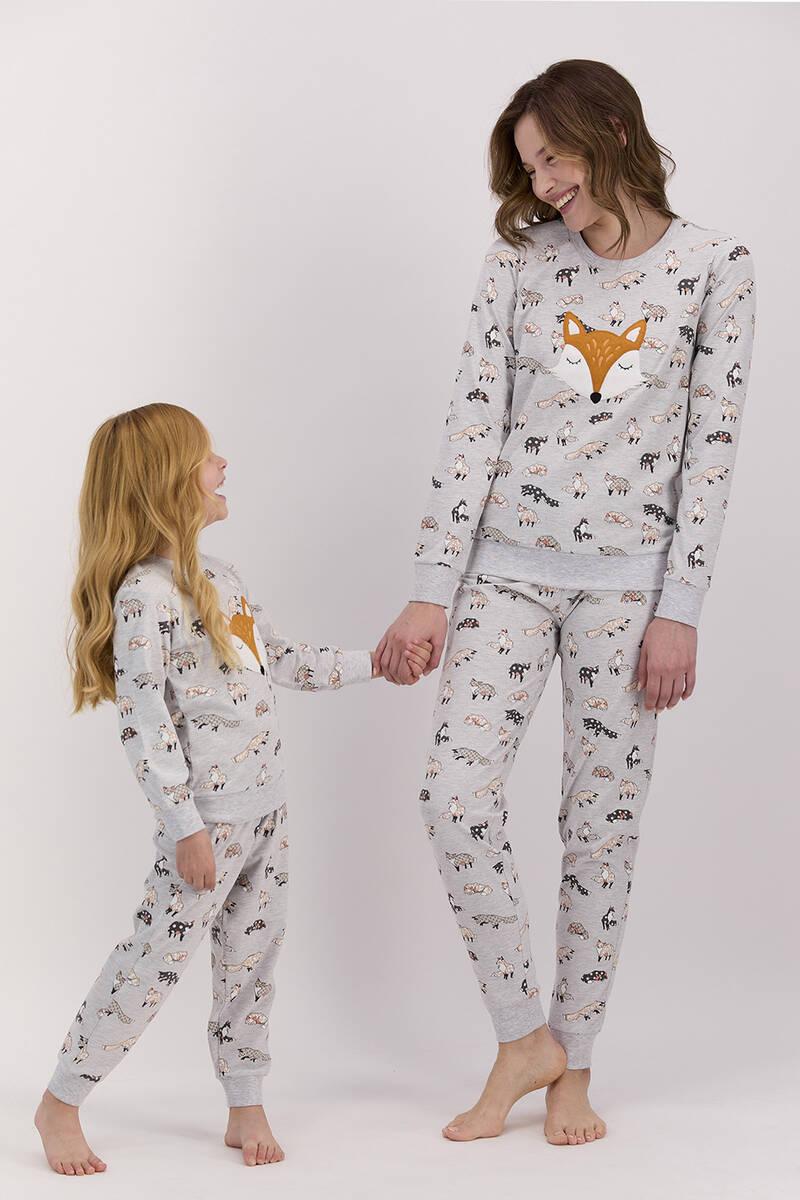 Arnetta - Arnetta Foxes Karmelanj Kız Çocuk Uzun Kol Pijama Takımı (1)