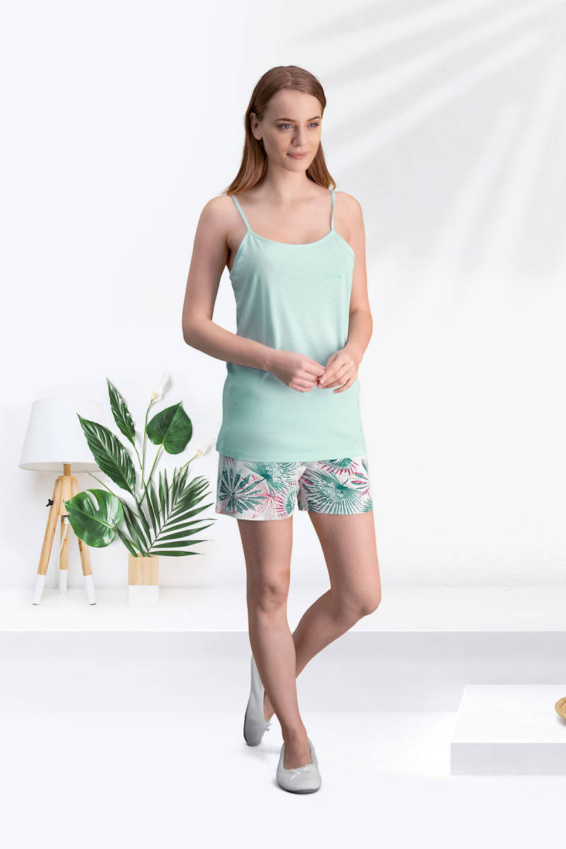 Arnetta - Arnetta Lamina Nil Yeşili Kadın Şort Takım