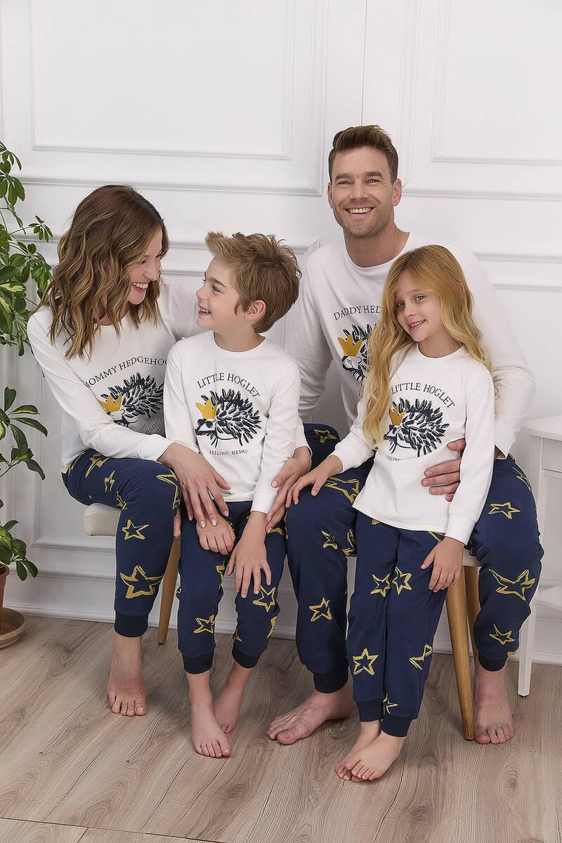 Arnetta - Arnetta Little Hoglet Krem Kız Çocuk Uzun Kol Pijama Takımı (1)