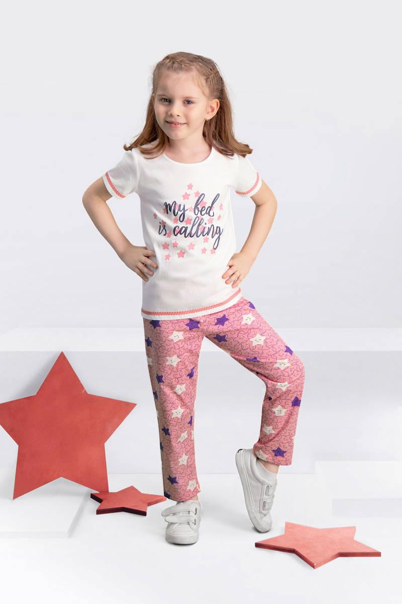 Arnetta - Arnetta My Bed Krem Kız Çocuk Pijama Takımı