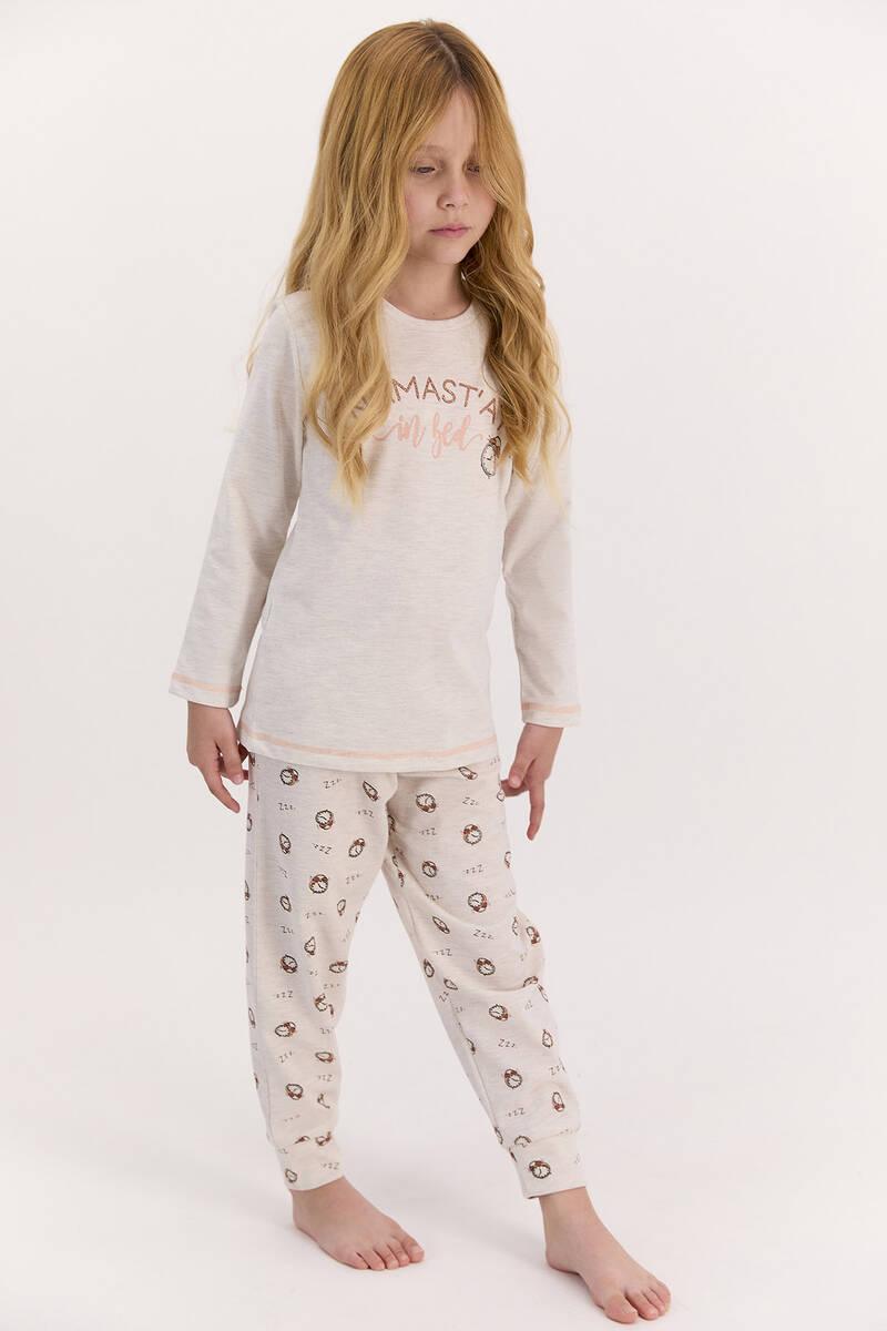Arnetta - Arnetta Namast'ay In Bed Kremmelanj Kız Çocuk Uzun Kol Pijama Takımı