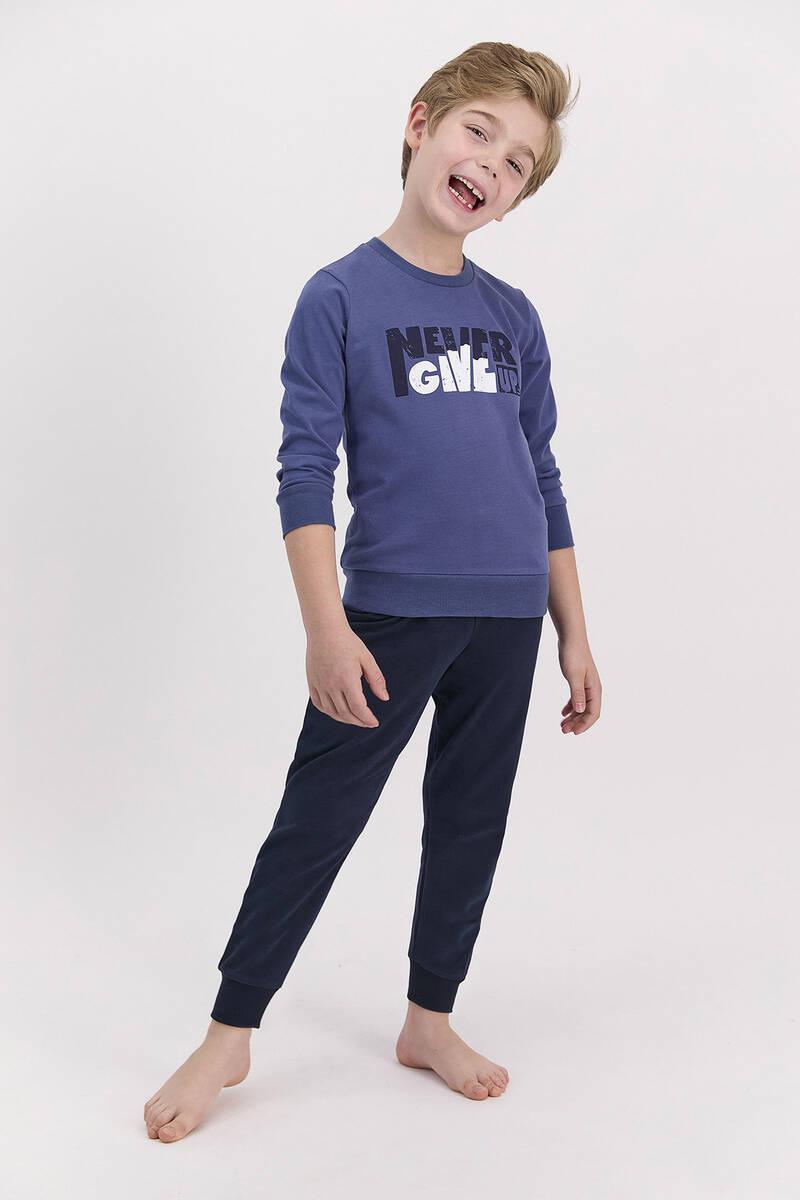 Arnetta - Arnetta Never Give Up Açık İndigo Erkek Çocuk Pijama Takımı (1)