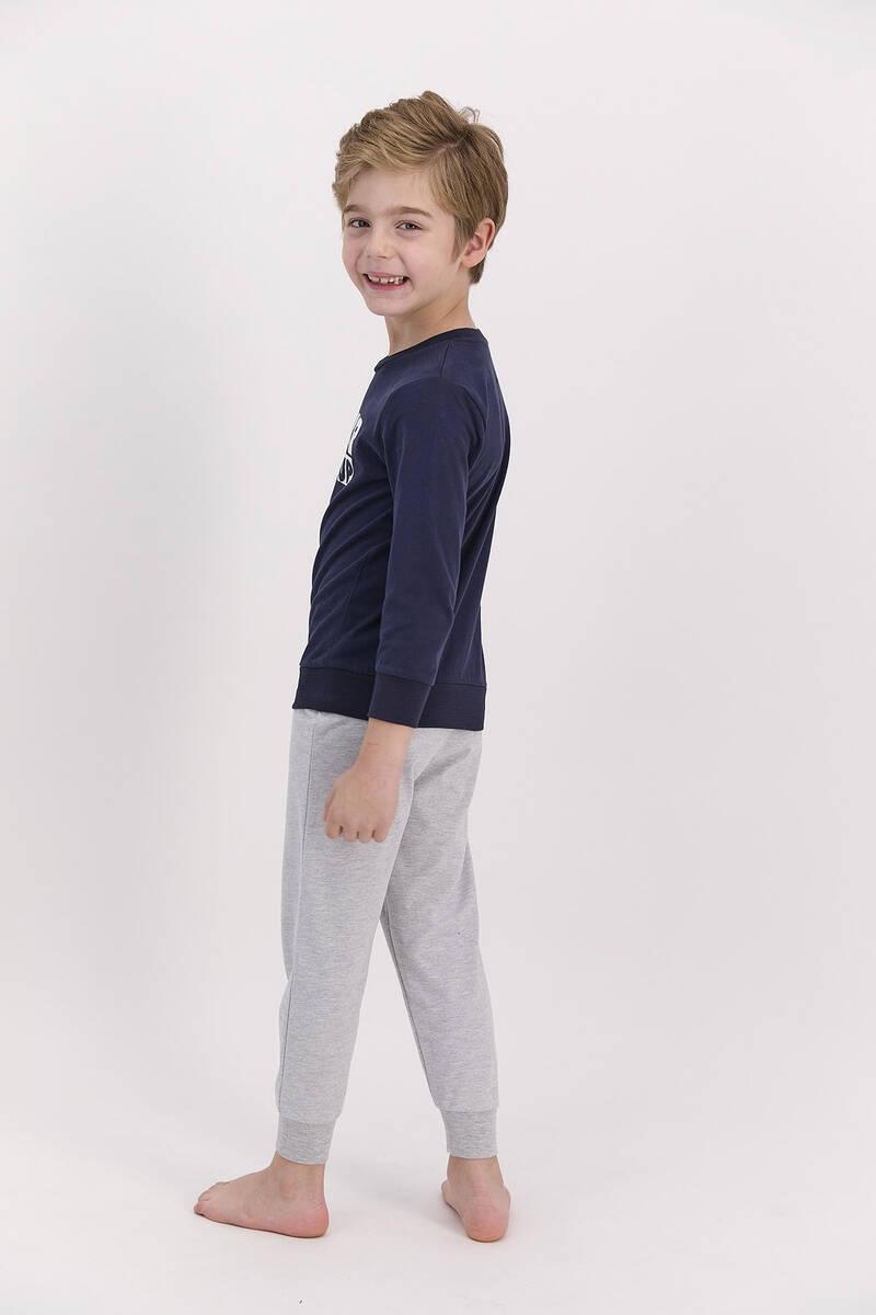 Arnetta - Arnetta Never Give Up Lacivert Erkek Çocuk Pijama Takımı (1)