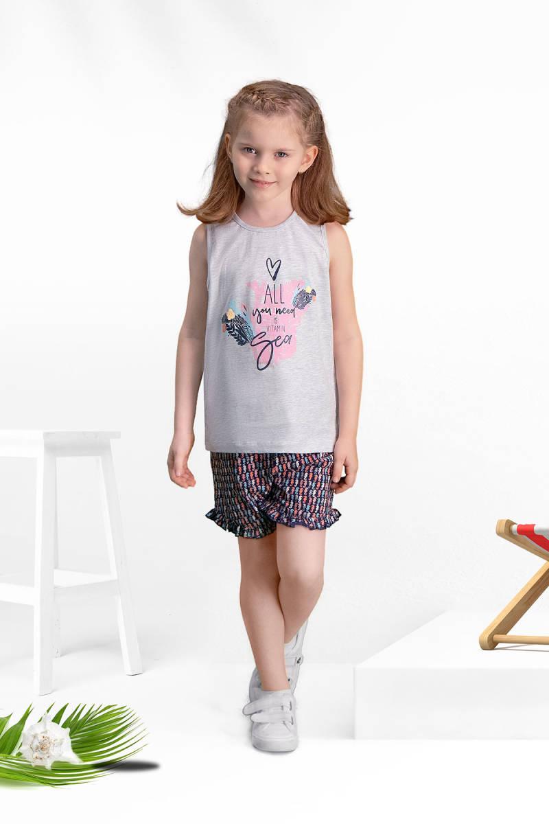 Arnetta - Arnetta Seahorse Karmelanj Kız Çocuk Şort Takım