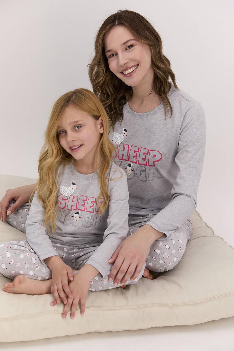 Arnetta - Arnetta Sheep Yoga Grimelanj Kız Çocuk Uzun Kol Pijama Takımı (1)