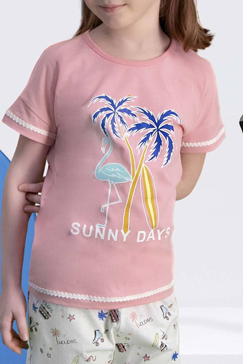 Arnetta - Arnetta Sunny Days Pembe Kız Çocuk Şort Takım (1)