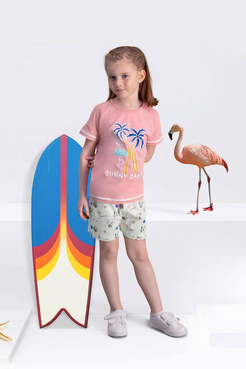 Arnetta - Arnetta Sunny Days Pembe Kız Çocuk Şort Takım