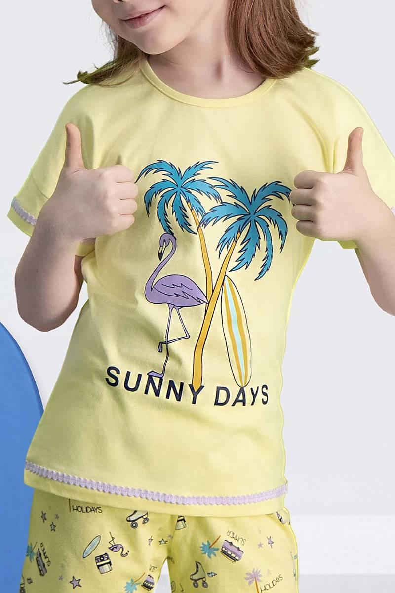 Arnetta - Arnetta Sunny Days Sarı Kız Çocuk Şort Takım (1)