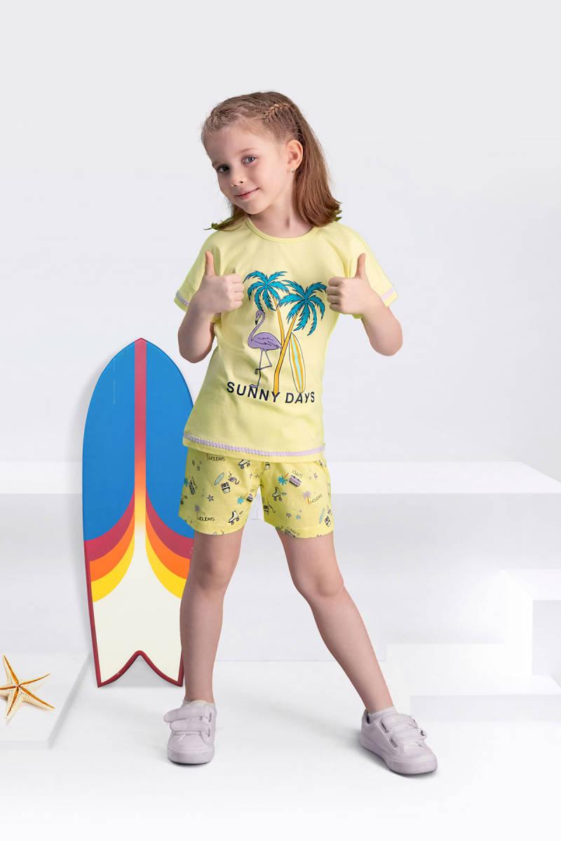 Arnetta - Arnetta Sunny Days Sarı Kız Çocuk Şort Takım