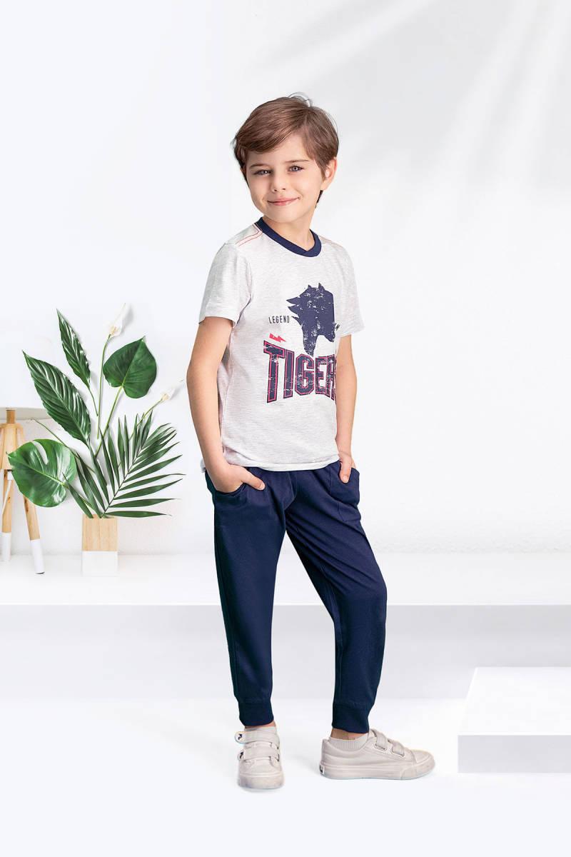 Arnetta - Arnetta Tiger's Karmelanj Erkek Çocuk Pijama Takımı