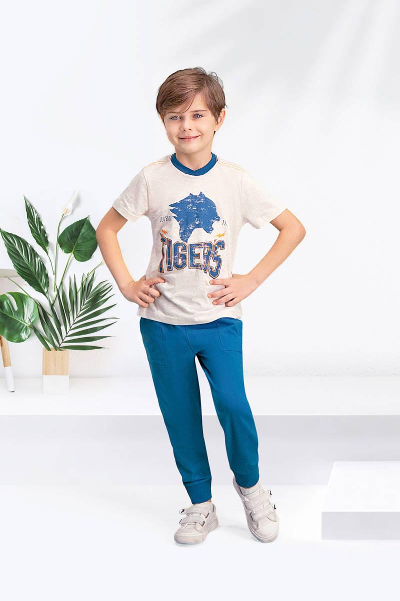 Arnetta - Arnetta Tiger's Kum Beji Erkek Çocuk Pijama Takımı