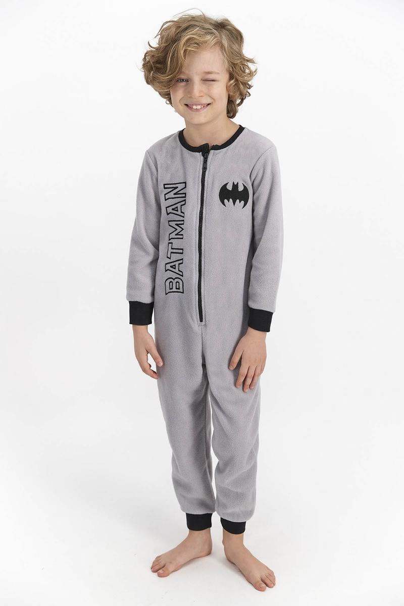 Batman - Batman Erkek Çocuk Polar Tulum Grı (1)