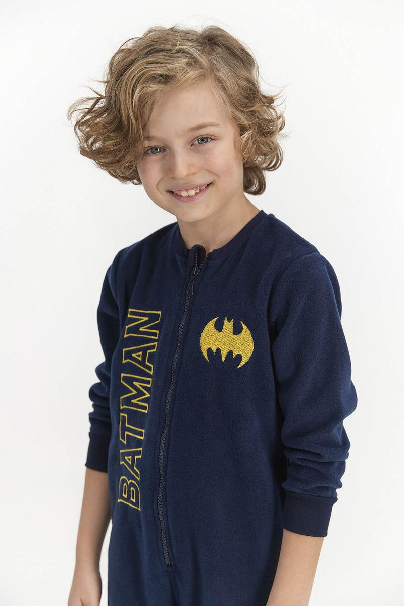 Batman - Batman Erkek Çocuk Polar Tulum Lacıvert (1)