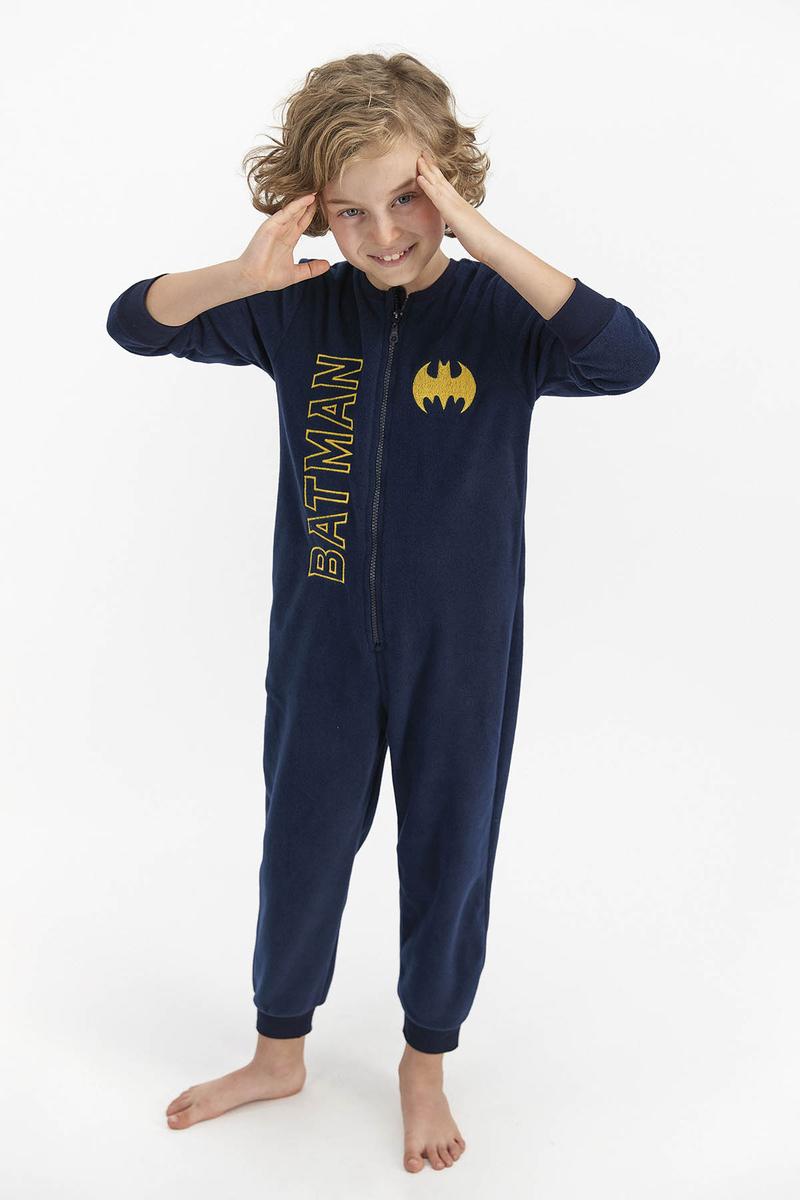 Batman - Batman Erkek Çocuk Polar Tulum Lacıvert