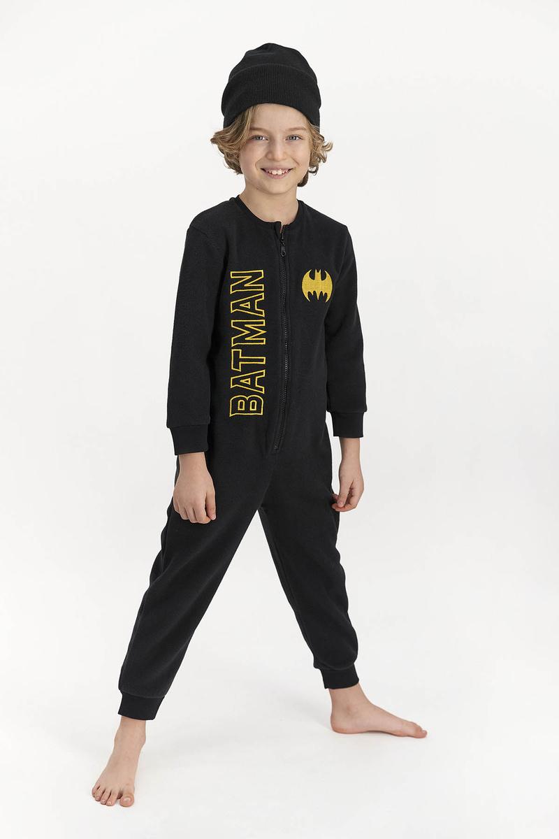 Batman - Batman Erkek Çocuk Polar Tulum Sıyah (1)