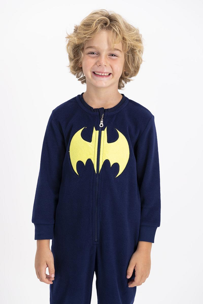 Batman - Batman Lisanslı Erkek Çocuk Lacivert Çocuk Polar Tulum (1)