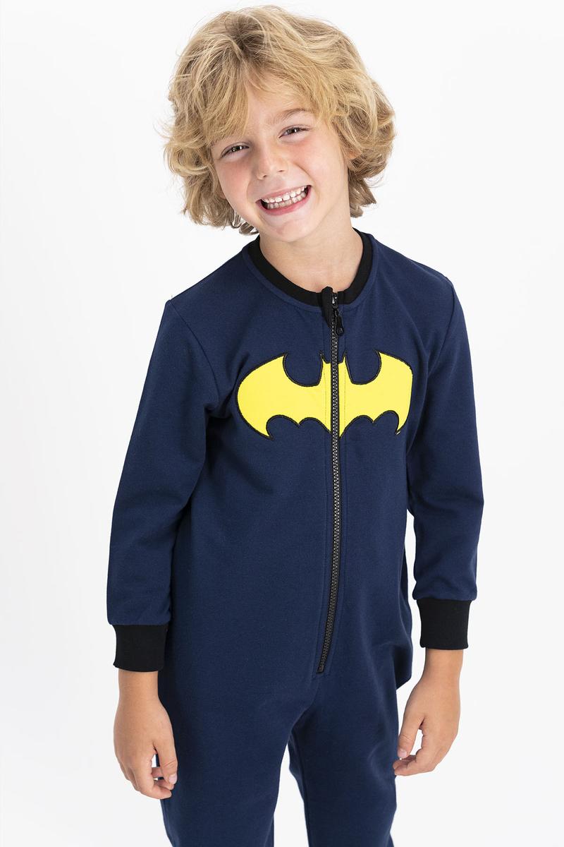 Batman - Batman Lisanslı Erkek Lacivert Çocuk %100 Pamuk Tulum