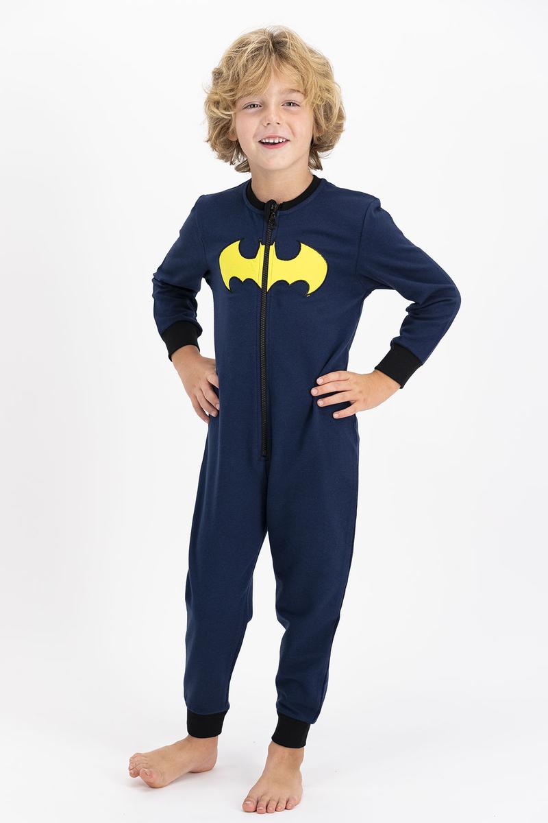 Batman - Batman Lisanslı Erkek Lacivert Çocuk %100 Pamuk Tulum (1)