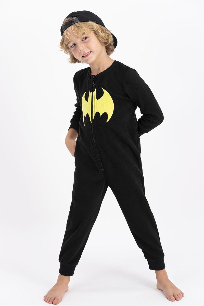 Batman - Batman Lisanslı Erkek Çocuk Siyah Çocuk Polar Tulum (1)