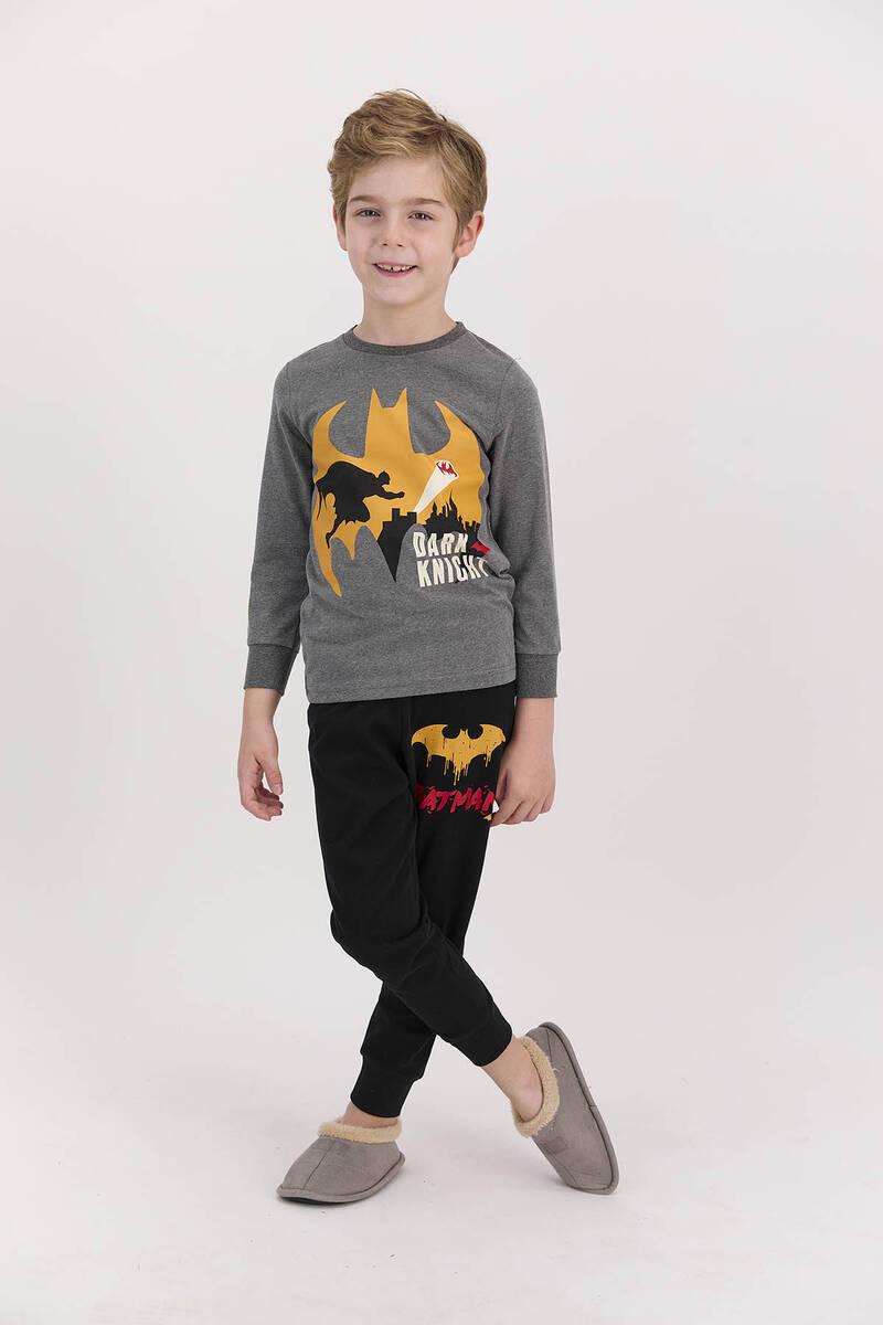 Batman - Batman Lisanslı Dark Knight Antrasitmelanj Erkek Çocuk Eşofman Takımı