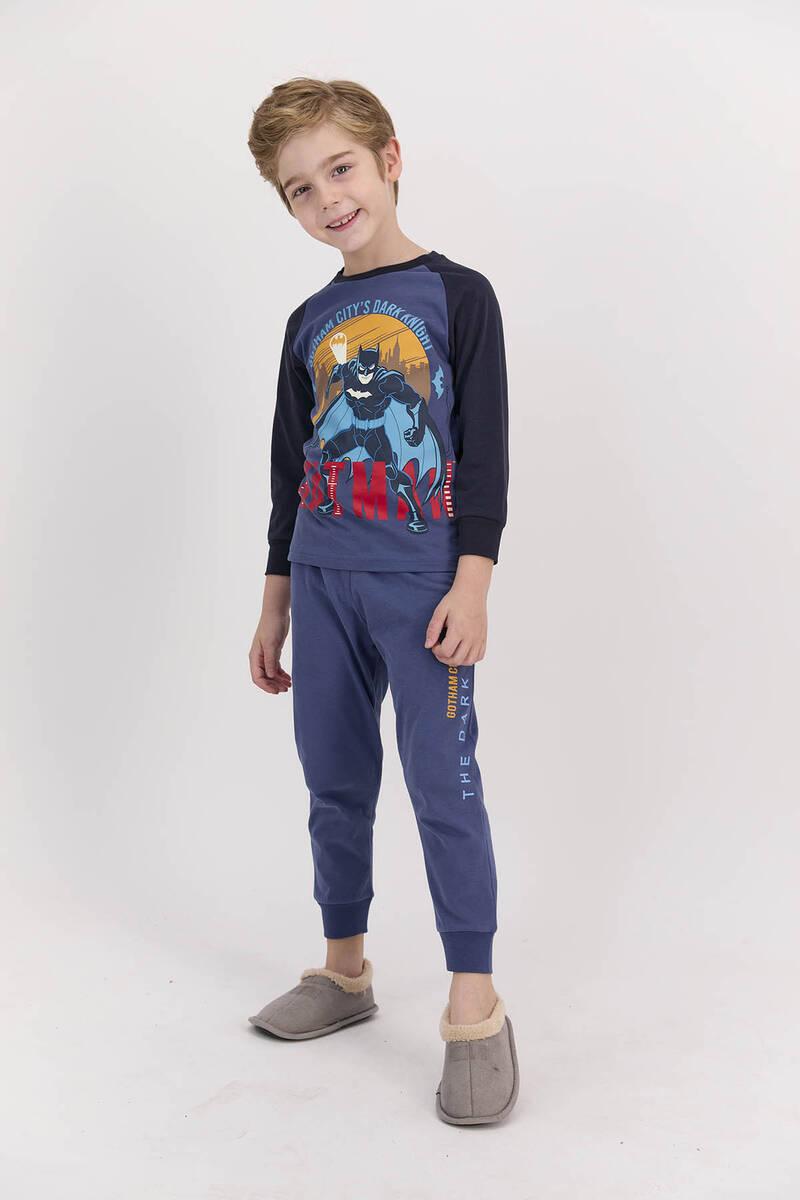 Batman - Batman Lisanslı İndigo Erkek Çocuk Pijama Takımı