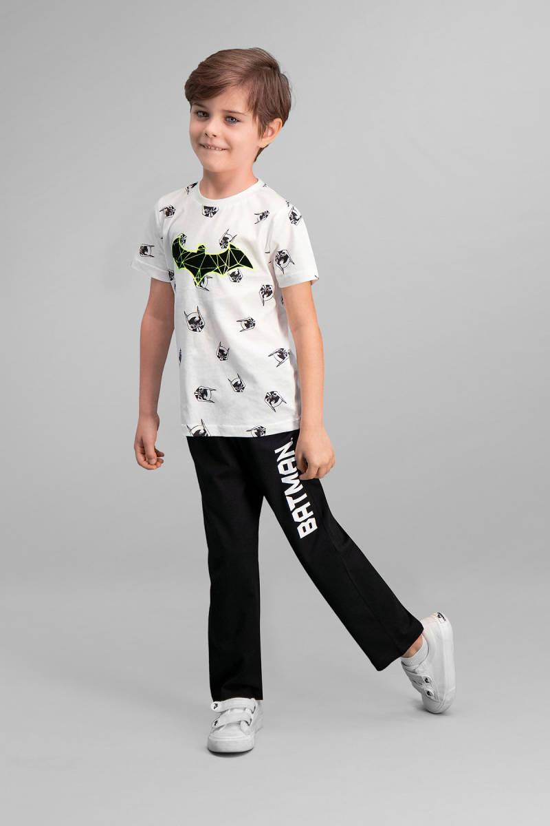 Batman - Batman Lisanslı Krem Erkek Çocuk Pijama Takımı