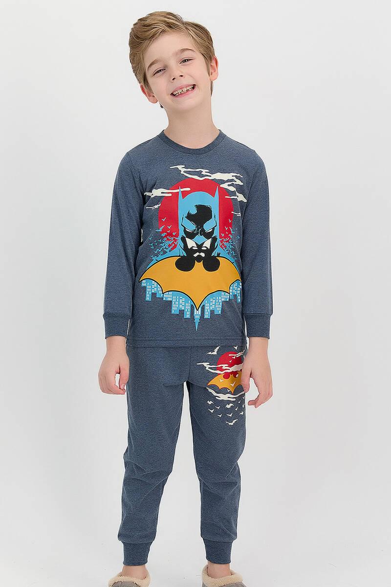 Batman - Batman Lisanslı Lacivert Erkek Çocuk Eşofman Takımı