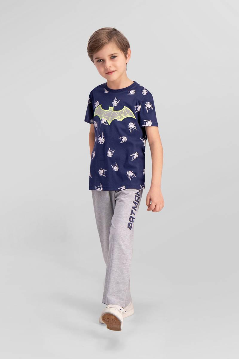 Batman - Batman Lisanslı Lacivert Erkek Çocuk Pijama Takımı