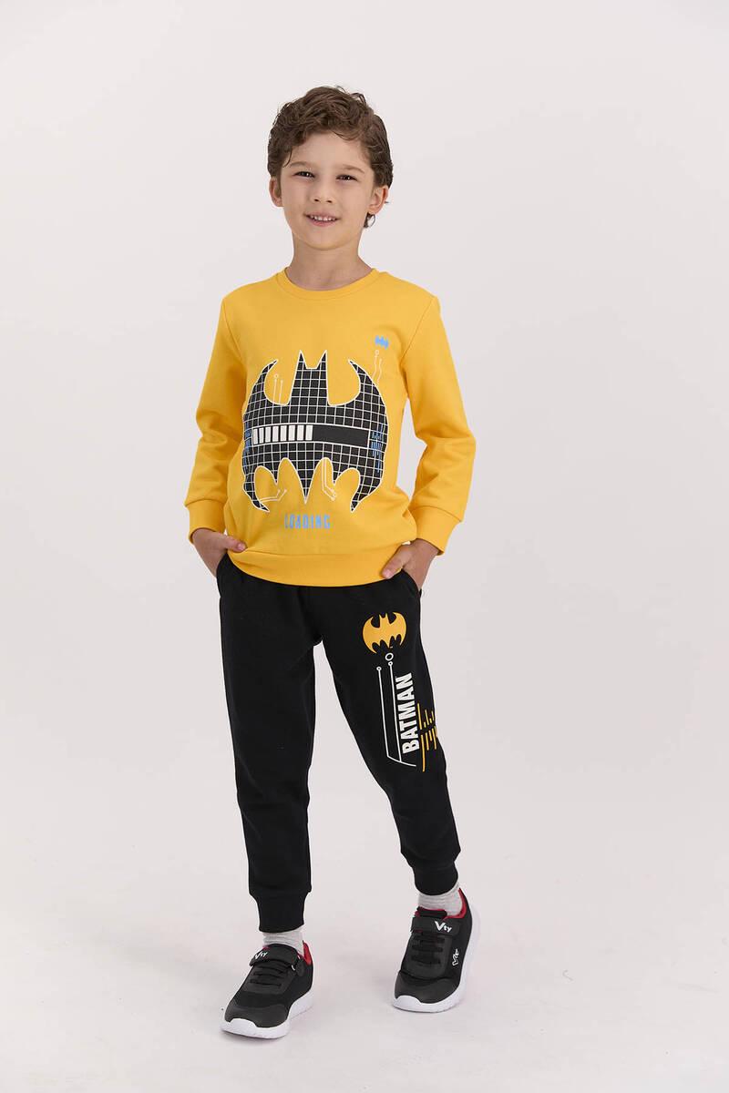 Batman - Batman Lisanslı Sarı Erkek Çocuk Eşofman Takımı